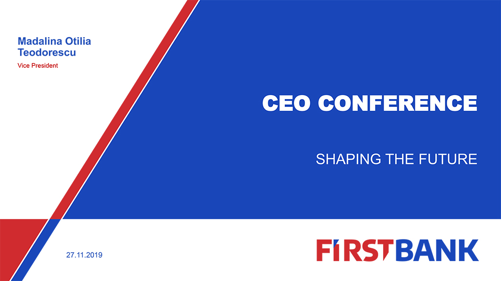 FIRST BANK CEO Conference Cluj 2019